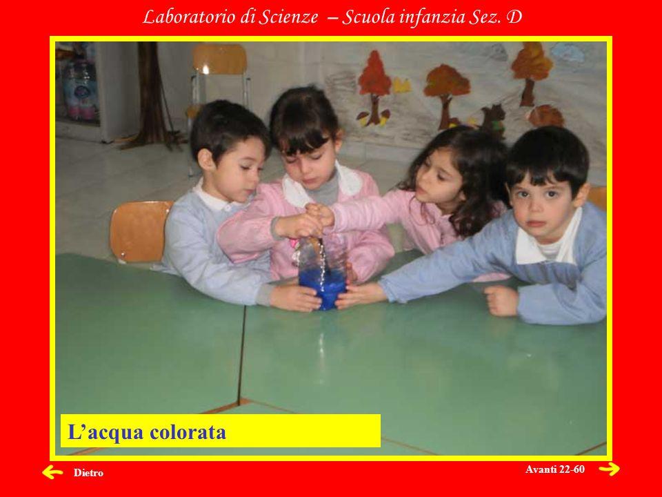 Dietro Laboratorio di Scienze – Scuola infanzia Sez. D Lacqua colorata Avanti 22-60