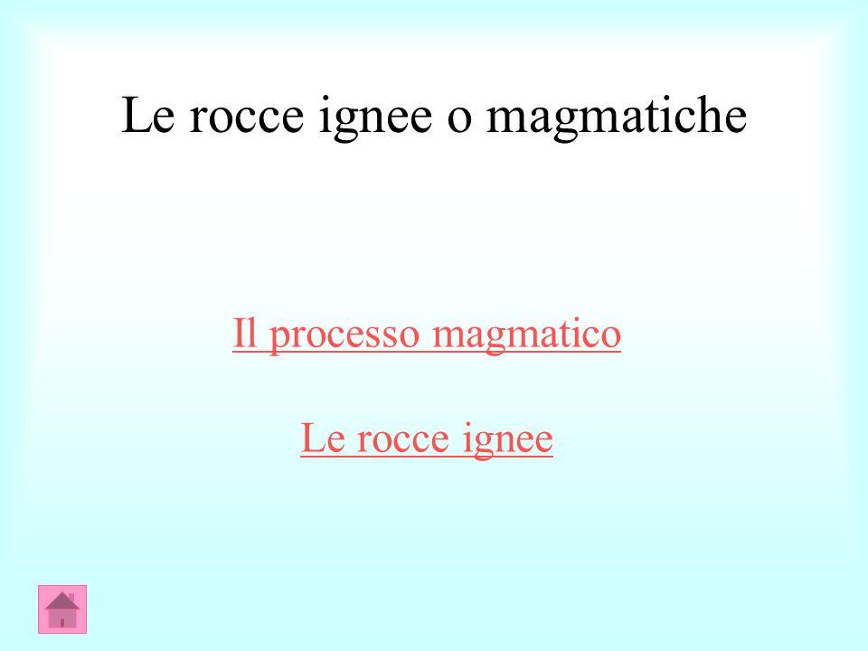 Le rocce ignee o magmatiche Il processo magmatico Le rocce ignee