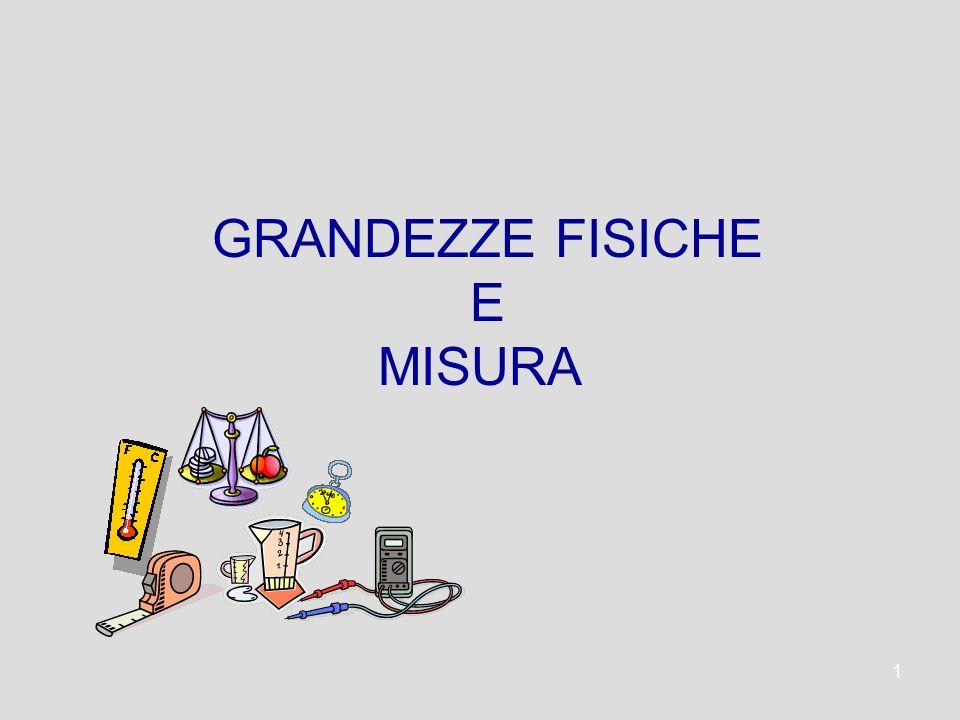 1 GRANDEZZE FISICHE E MISURA