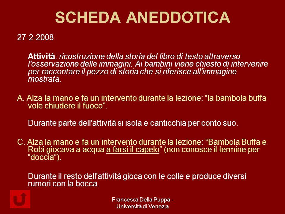 Francesca Della Puppa - Università di Venezia SCHEDA ANEDDOTICA 27-2-2008 Attività: ricostruzione della storia del libro di testo attraverso l osservazione delle immagini.