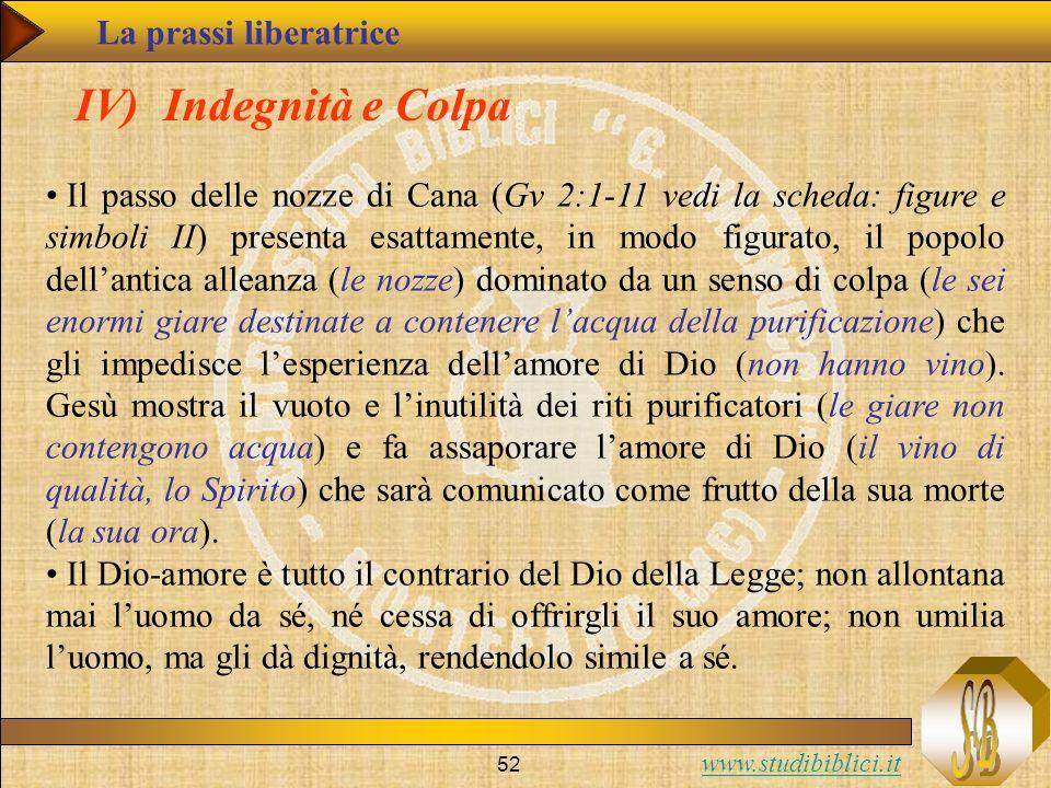 www.studibiblici.it 52 IV) Indegnità e Colpa Il passo delle nozze di Cana (Gv 2:1-11 vedi la scheda: figure e simboli II) presenta esattamente, in mod