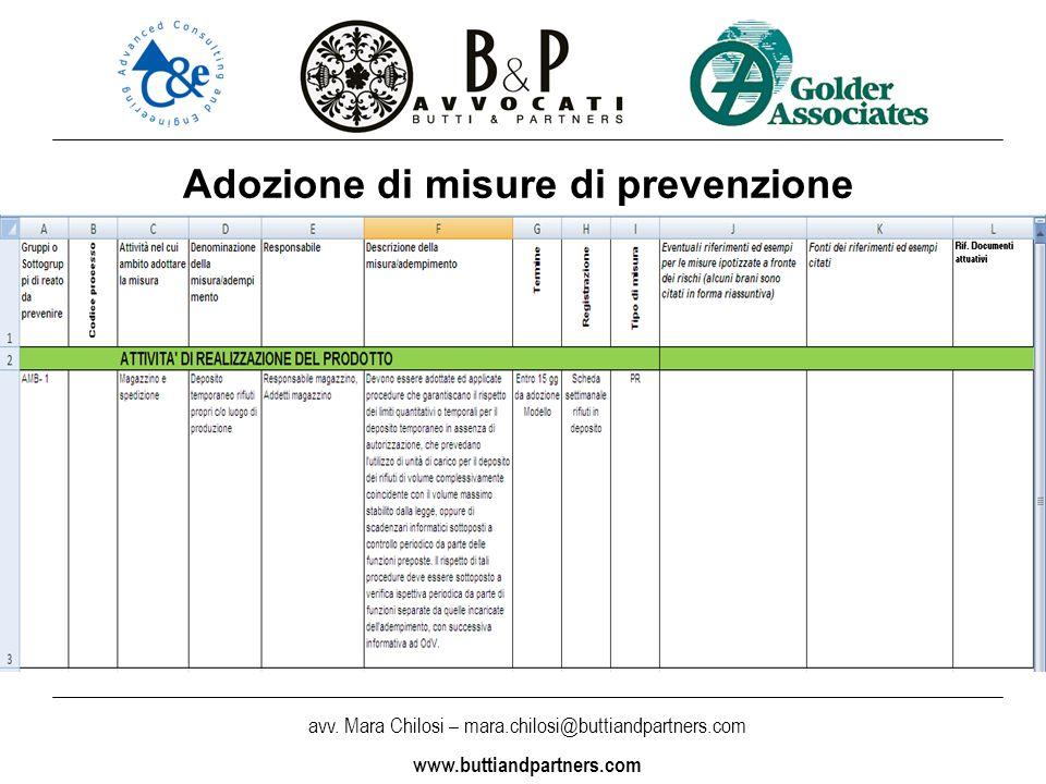avv. Mara Chilosi – mara.chilosi@buttiandpartners.com www.buttiandpartners.com Adozione di misure di prevenzione