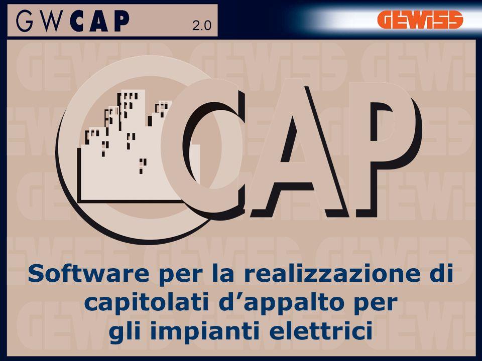 Software per la realizzazione di capitolati dappalto per gli impianti elettrici