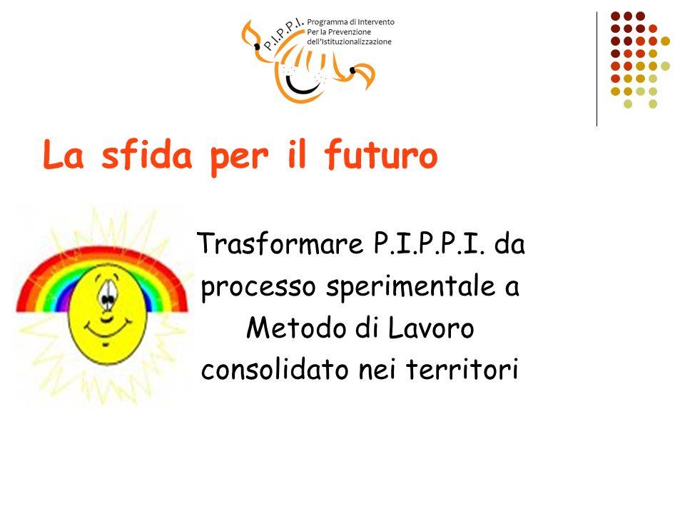 La sfida per il futuro Trasformare P.I.P.P.I. da processo sperimentale a Metodo di Lavoro consolidato nei territori
