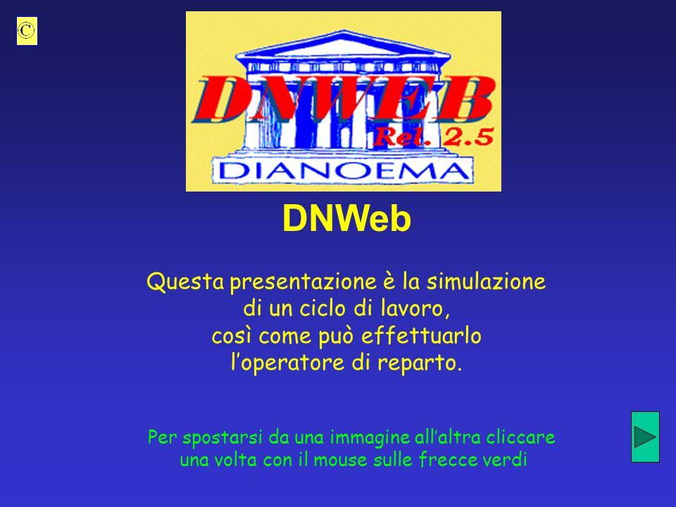 DNWeb Questa presentazione è la simulazione di un ciclo di lavoro, così come può effettuarlo loperatore di reparto.