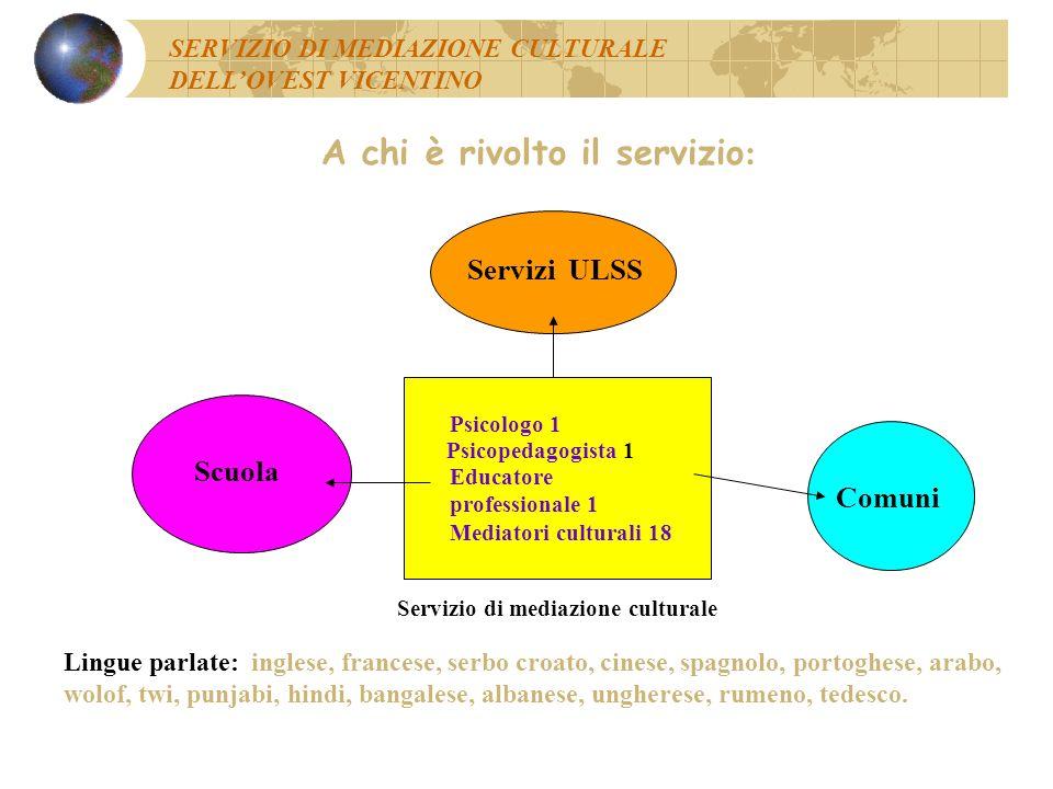 Totale interventi effettuati nel corso del progetto (nov. 2002 – apr. 2003) Nov.2002/ Apr.2003 ScuolaServizi UlssTotale Interventi su casi singoli 148