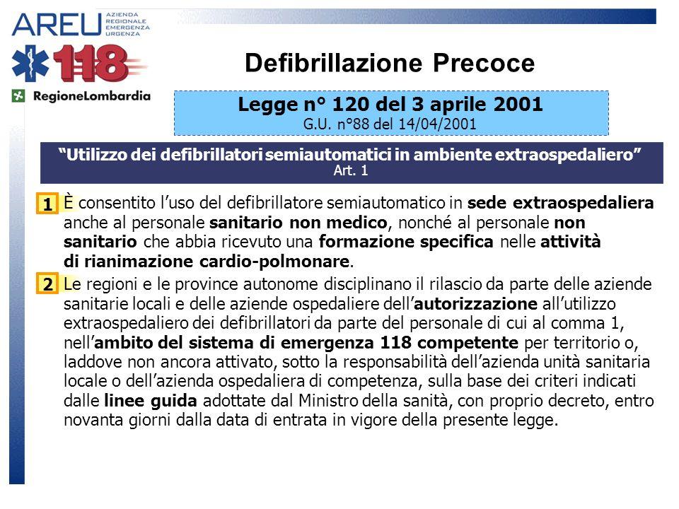 1 È consentito luso del defibrillatore semiautomatico in sede extraospedaliera anche al personale sanitario non medico, nonché al personale non sanita