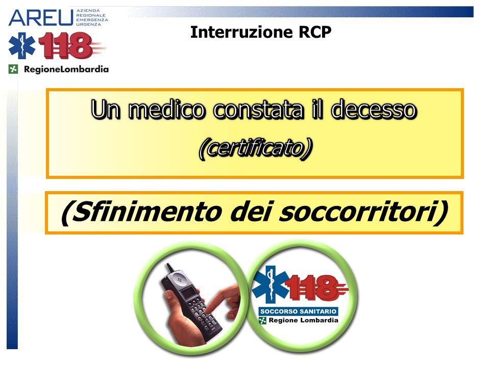 Interruzione RCP (Sfinimento dei soccorritori)