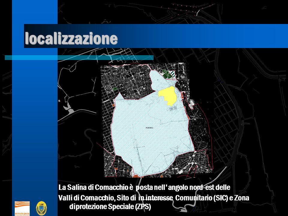 localizzazione La Salina di Comacchio è posta nell angolo nord-est delle Valli di Comacchio, Sito di in interesse Comunitario (SIC) e Zona diprotezione Speciale (ZPS)