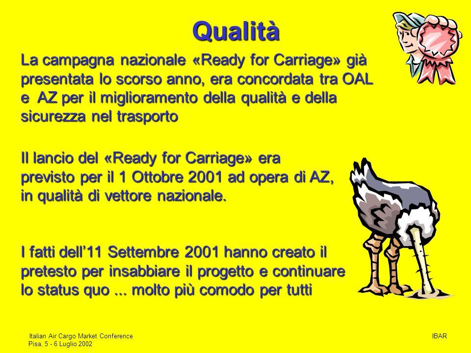IBARItalian Air Cargo Market Conference Pisa, 5 - 6 Luglio 2002 Scheda 3 La normativa della «Scheda 3» dovrebbe entrare in vigore il 25 luglio 2002 …