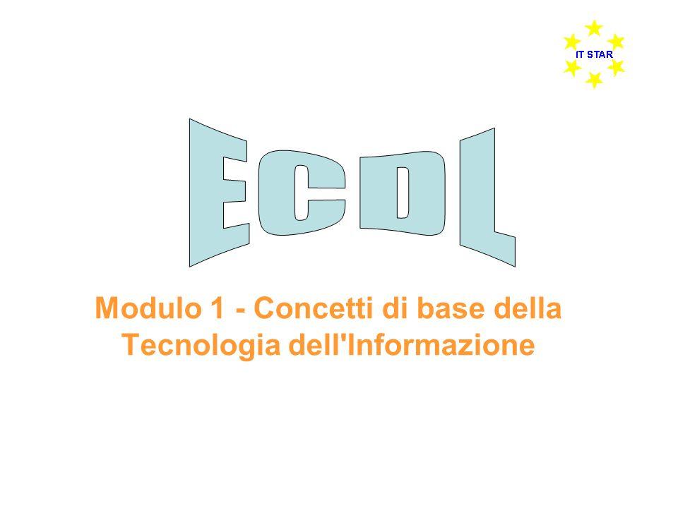 Modulo 1 - Concetti di base della Tecnologia dell'Informazione
