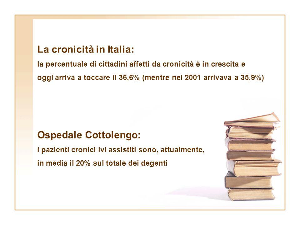 La cronicità in Italia: la percentuale di cittadini affetti da cronicità è in crescita e oggi arriva a toccare il 36,6% (mentre nel 2001 arrivava a 35