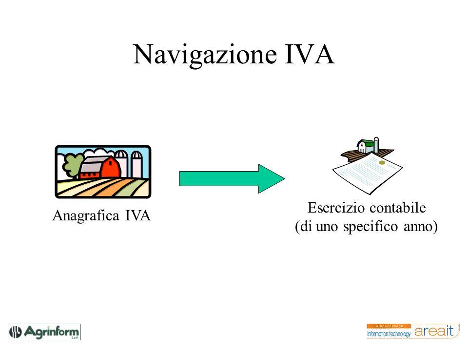 Navigazione IVA Anagrafica IVA Esercizio contabile (di uno specifico anno)