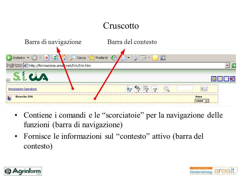 Cruscotto Contiene i comandi e le scorciatoie per la navigazione delle funzioni (barra di navigazione) Fornisce le informazioni sul contesto attivo (b