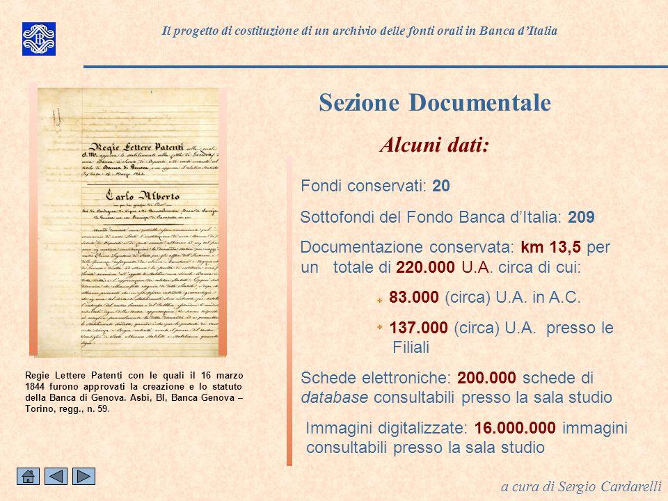 Fondi conservati: 20 Sottofondi del Fondo Banca dItalia: 209 Documentazione conservata: km 13,5 per un totale di 220.000 U.A.