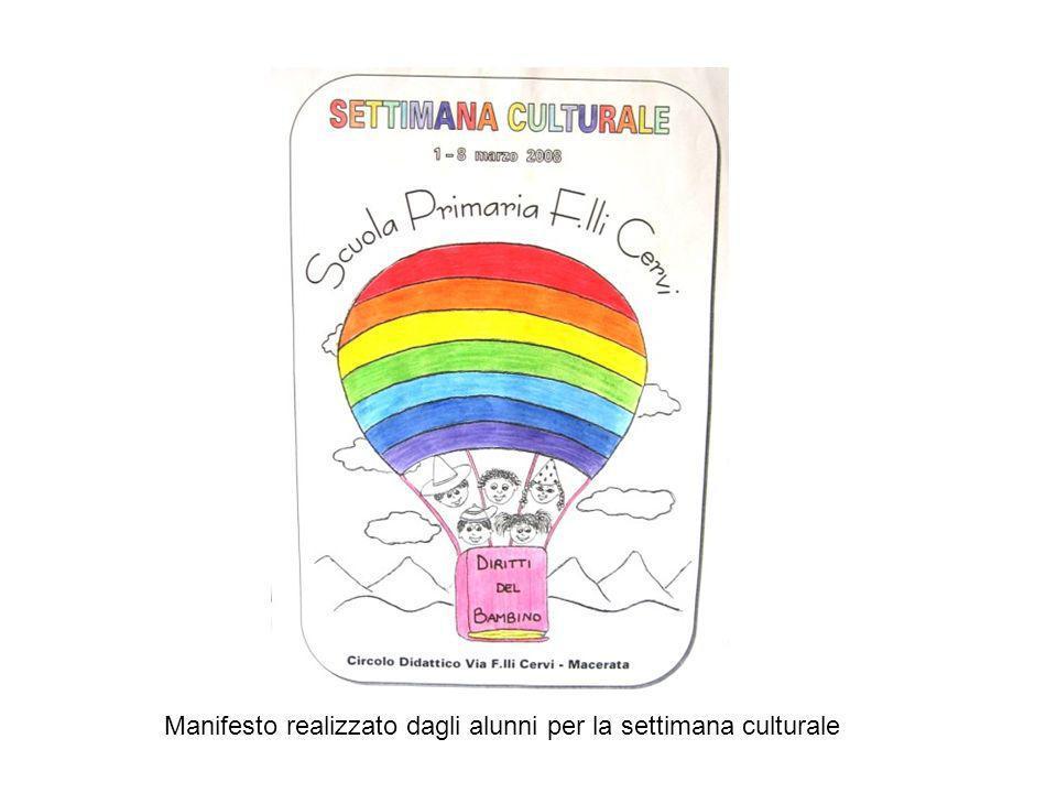 Come prosecuzione del Progetto Facciamo pace a scuola, è stata realizzata, dal 1° all8 marzo 2008, la Settimana culturale sul tema dei Diritti Umani,