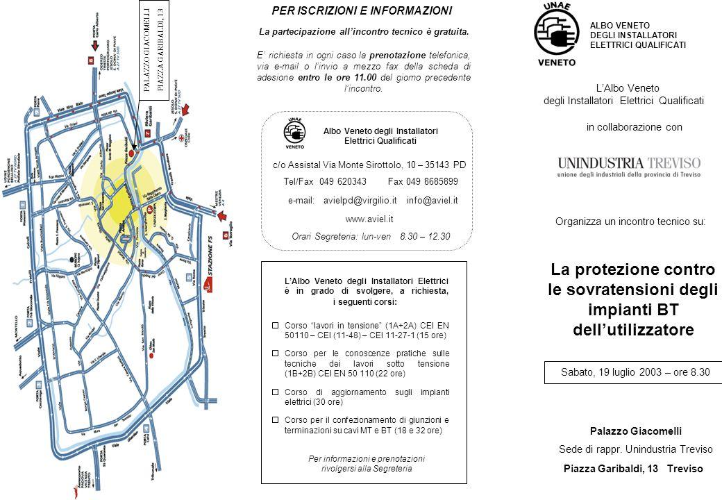 Sabato, 19 luglio 2003 – ore 8.30 Palazzo Giacomelli Sede di rappr. Unindustria Treviso Piazza Garibaldi, 13 Treviso LAlbo Veneto degli Installatori E