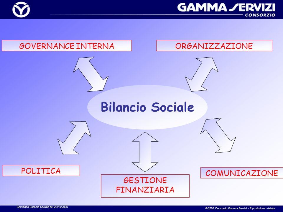 Seminario Bilancio Sociale del 20/10/2005 © 2005 Consorzio Gamma Servizi - Riproduzione vietata Risposte per area di compilazione