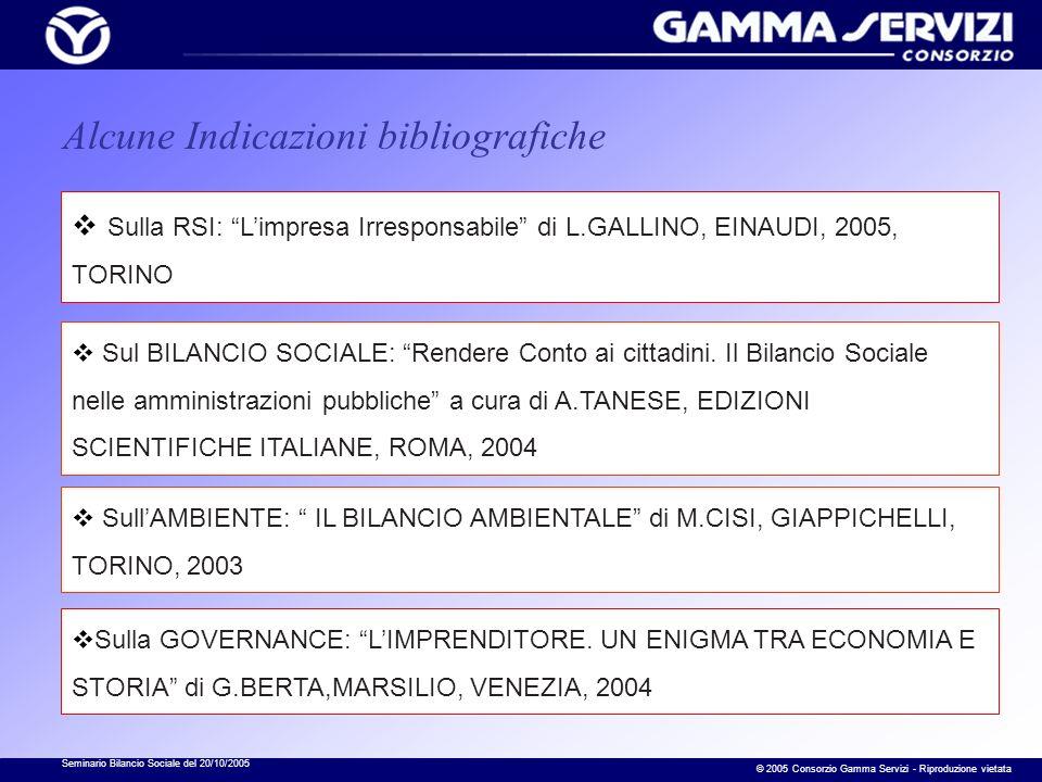 Seminario Bilancio Sociale del 20/10/2005 © 2005 Consorzio Gamma Servizi - Riproduzione vietata Opinioni espresse dai Comuni che non hanno ancora realizzato un Bilancio Sociale