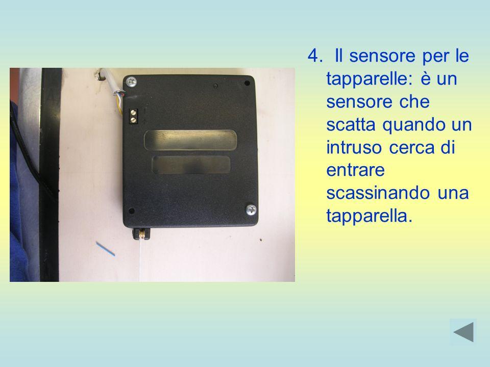 4. Il sensore per le tapparelle: è un sensore che scatta quando un intruso cerca di entrare scassinando una tapparella.