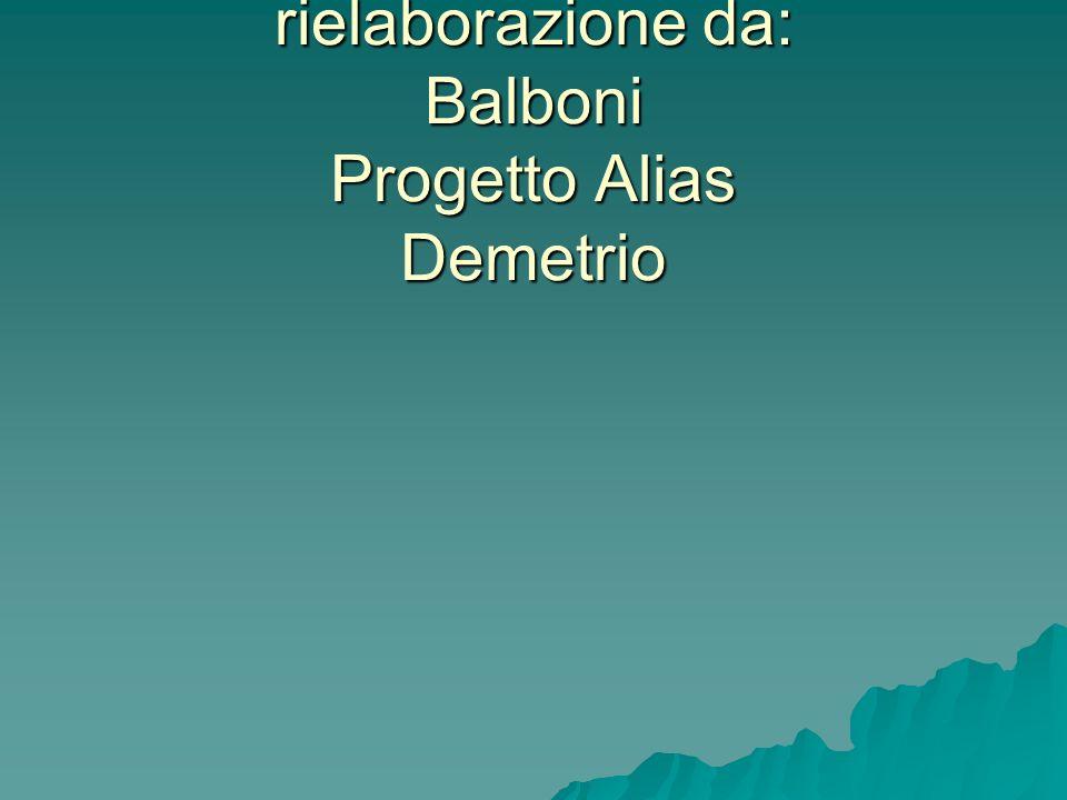 I materiali presentati sono una rielaborazione da: Balboni Progetto Alias Demetrio