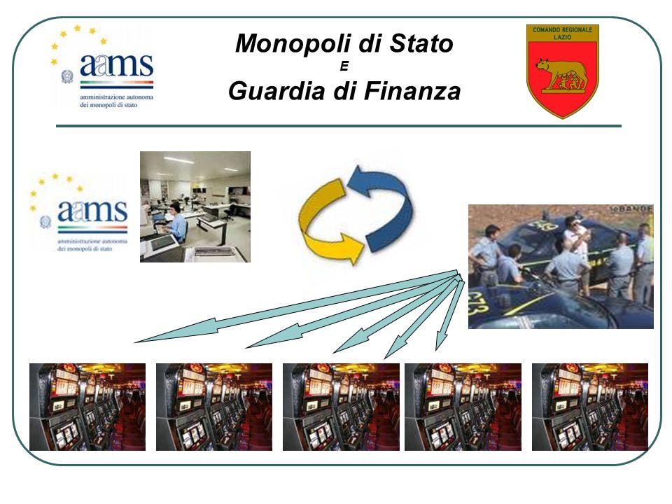 Monopoli di Stato E Guardia di Finanza