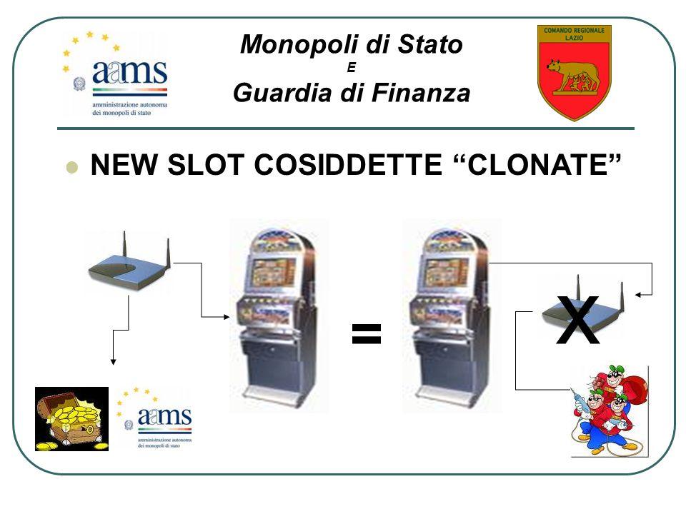 NEW SLOT COSIDDETTE CLONATE = x Monopoli di Stato E Guardia di Finanza