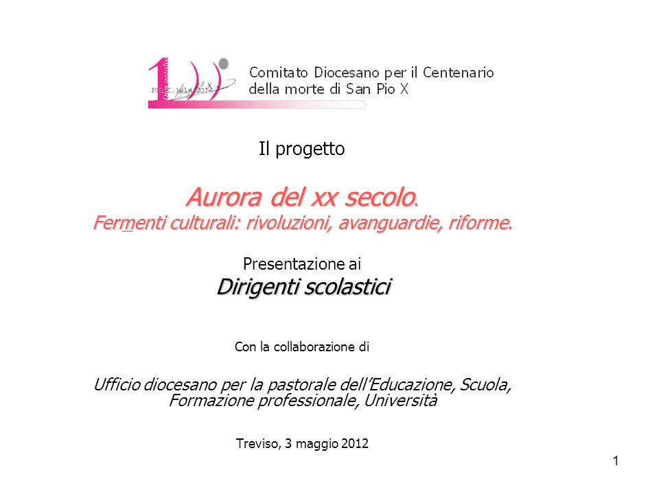2 Aurora del xx secolo.Fermenti culturali: rivoluzioni, avanguardie, riforme.