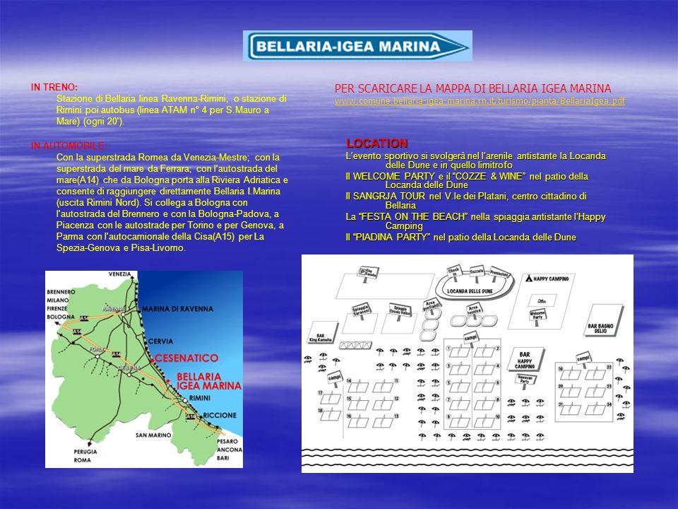 IN TRENO: Stazione di Bellaria linea Ravenna-Rimini, o stazione di Rimini poi autobus (linea ATAM n° 4 per S.Mauro a Mare) (ogni 20 ).