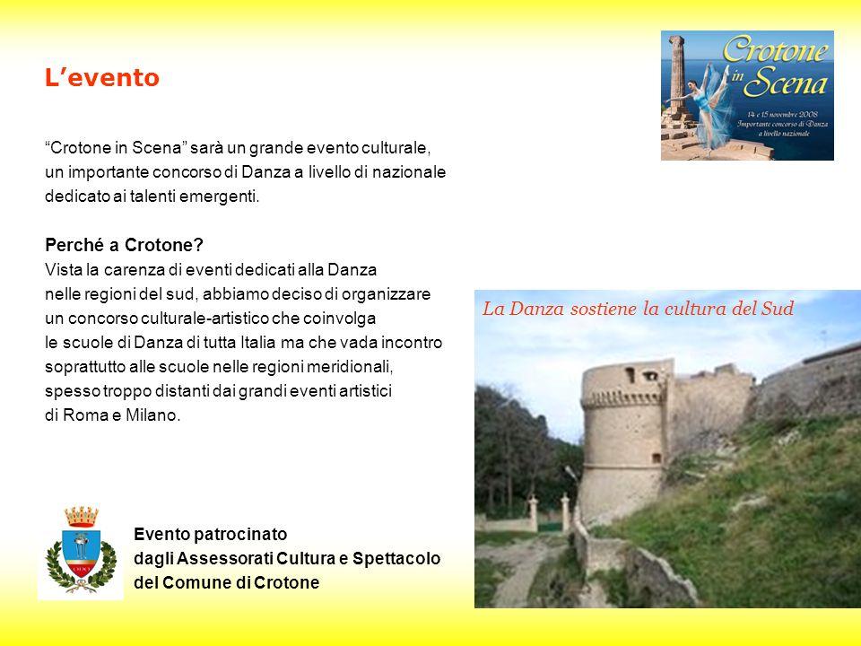 Crotone in Scena sarà un grande evento culturale, un importante concorso di Danza a livello di nazionale dedicato ai talenti emergenti.