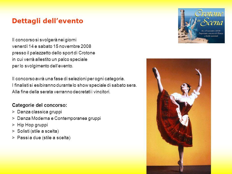 Il concorso si svolgerà nei giorni venerdì 14 e sabato 15 novembre 2008 presso il palazzetto dello sport di Crotone in cui verrà allestito un palco speciale per lo svolgimento dellevento.