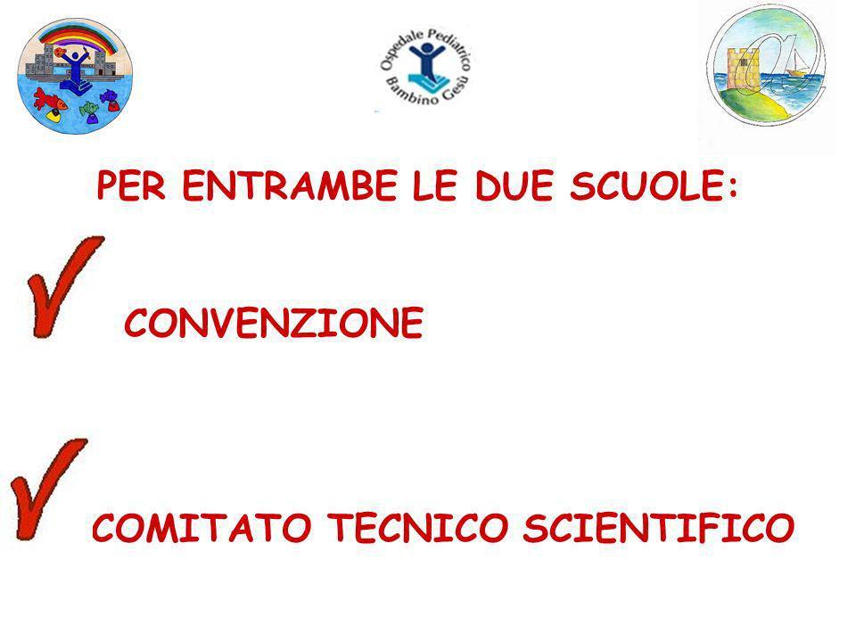 PER ENTRAMBE LE DUE SCUOLE: CONVENZIONE COMITATO TECNICO SCIENTIFICO