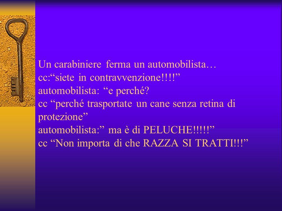 Un carabiniere ferma un automobilista… cc:siete in contravvenzione!!!.