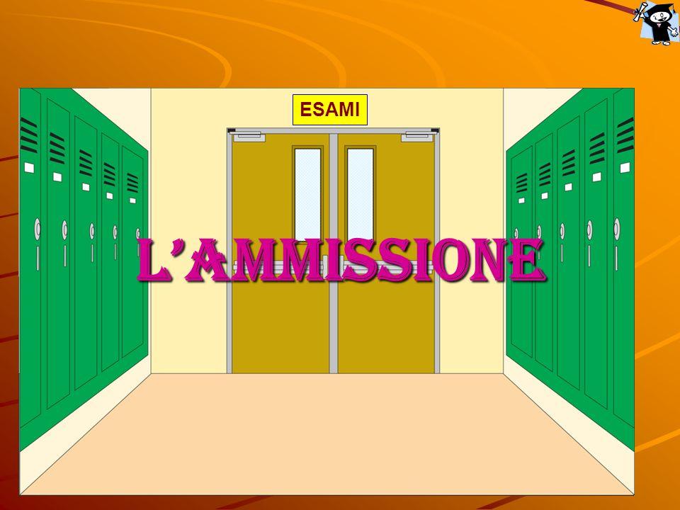 Per essere ammessi servono… …sufficienza in tutte le discipline; …sufficienza nel comportamento; …frequenza ai tre quarti delle lezioni.