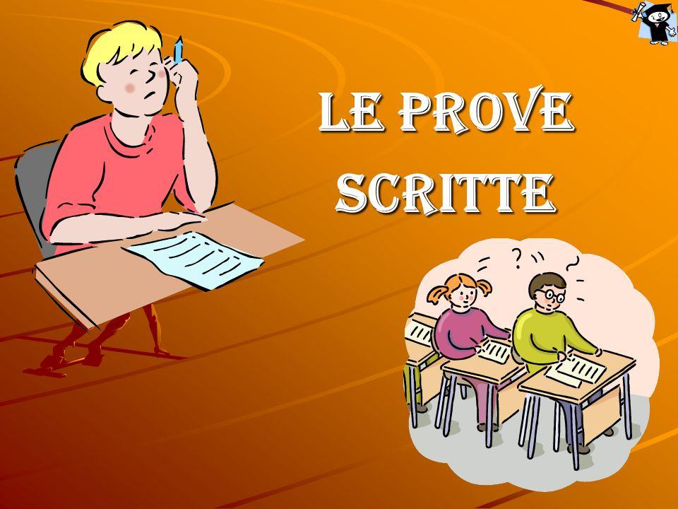 LE PROVE SCRITTE