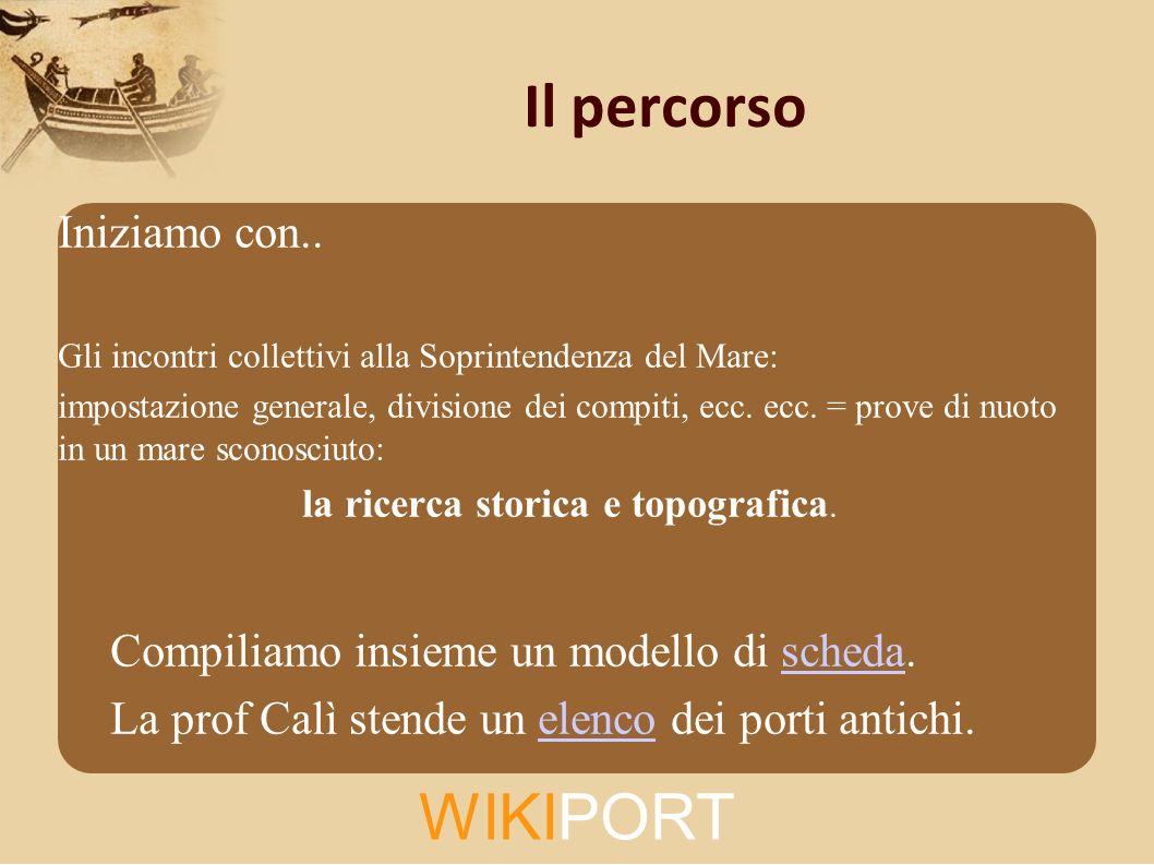 WIKIPORT Il percorso Iniziamo con..