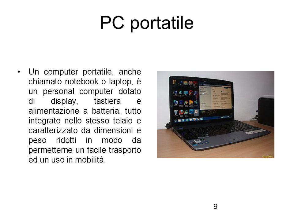 30 MonitorMonitor, mediante il quale i dati in uscita dalla unità centrale vengono visualizzati su uno schermo (CRT, TFT).