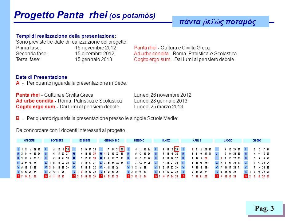 πάντα ε ς ποταμός Progetto Panta rhei (os potamòs) Pag.