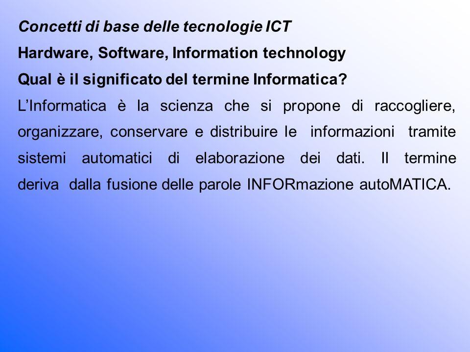 Cosa vuol dire Information Technology (I.T.).