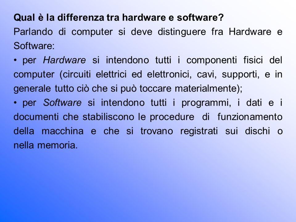 Prestazioni dei computer Le prestazioni di un computer dipendono, oltre che dagli accessori montati (schede video, schede grafiche etc.), da diversi fattori, che ne determinano la velocità di funzionamento: Tipo di CPU.