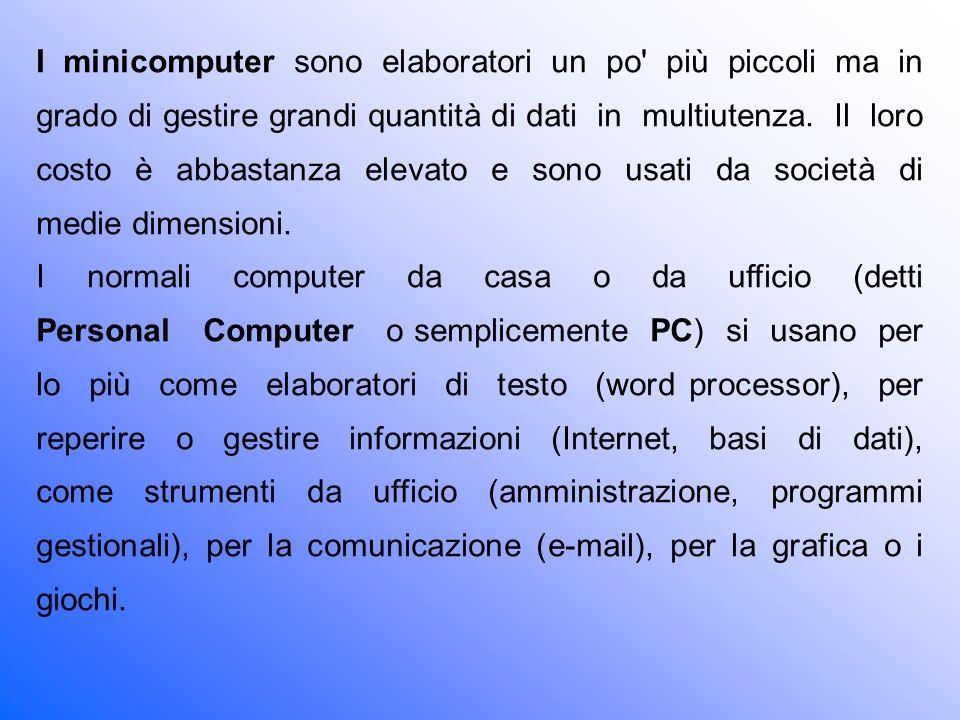 Nei laboratori di ricerca e nelle università si trovano spesso computer più potenti (detti Workstation) usati ancora per il calcolo e la programmazione oppure per la grafica avanzata (set virtuali, montaggio video, effetti speciali cinematografici, ecc.) e per la ricerca.