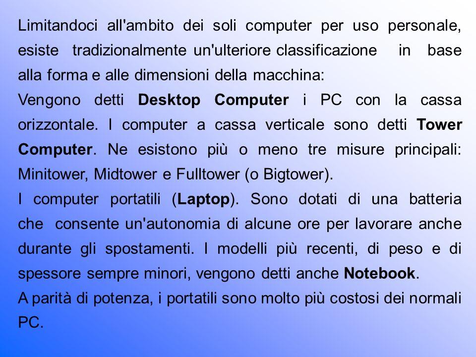 I Palmari (Palmtop o Pocket PC) sono dei computer di capacità ridotta nati dall evoluzione delle agende elettroniche tascabili.