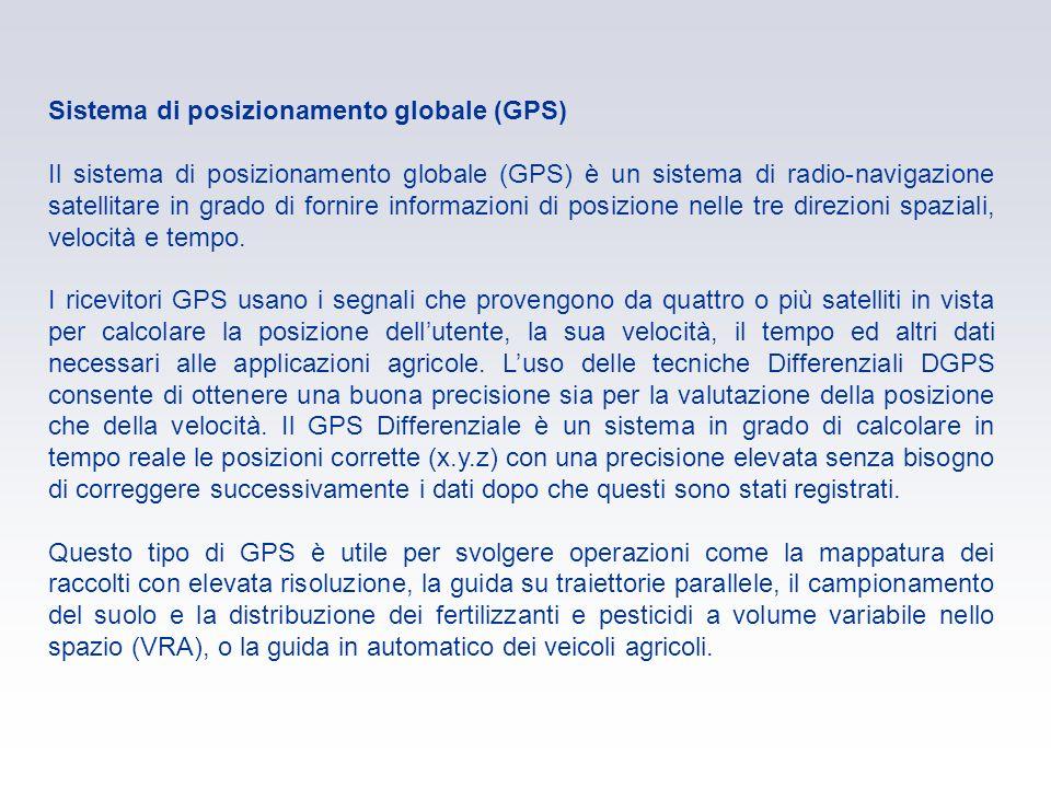 Sistema di posizionamento globale (GPS) Il sistema di posizionamento globale (GPS) è un sistema di radio-navigazione satellitare in grado di fornire i