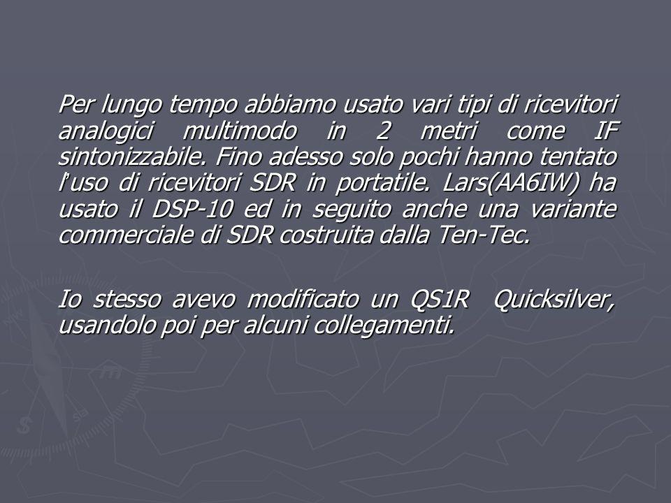 Escludendo il preselettore del Perseus, è possibile ricevere la frequenza di 50 MHz specchiata a 30 MHz.