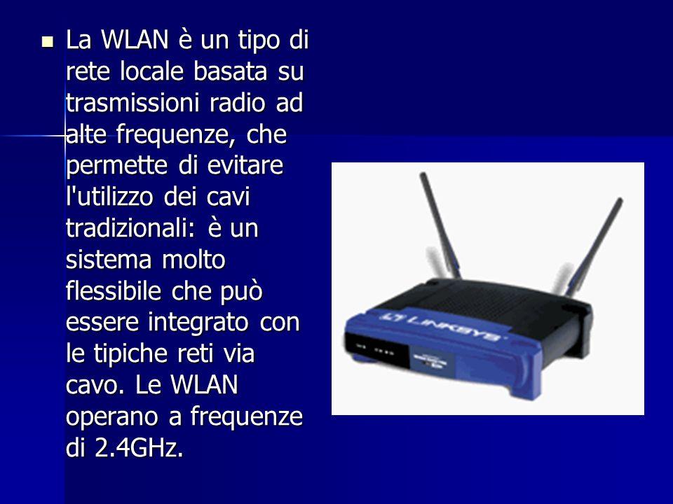 La WLAN è un tipo di rete locale basata su trasmissioni radio ad alte frequenze, che permette di evitare l'utilizzo dei cavi tradizionali: è un sistem
