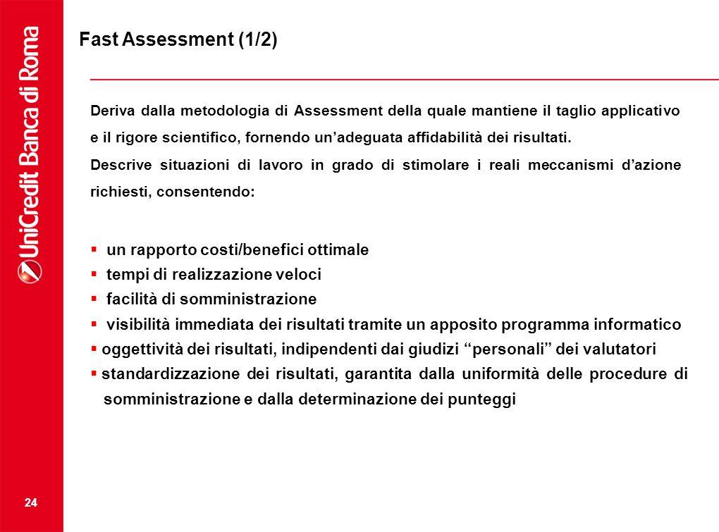 24 Deriva dalla metodologia di Assessment della quale mantiene il taglio applicativo e il rigore scientifico, fornendo unadeguata affidabilità dei ris
