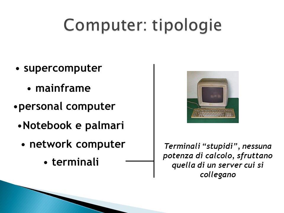 sono in grado di elaborare i dati autonomamente (quindi non sono terminali stupidi), ma non possiedono unità di immagazzinamento come Hard Disk. Il ca