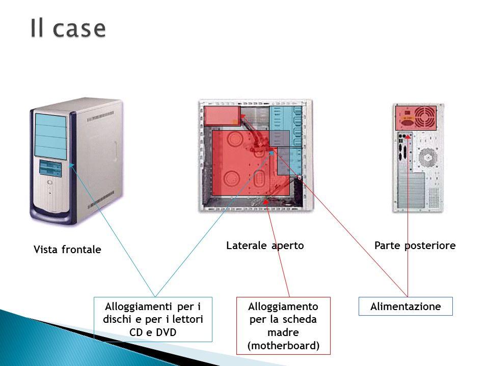 Il case (o cabinet) è il contenitore, linvolucro in cui vengono montati la scheda madre, i dischi e le varie schede di cui è composto un personal comp