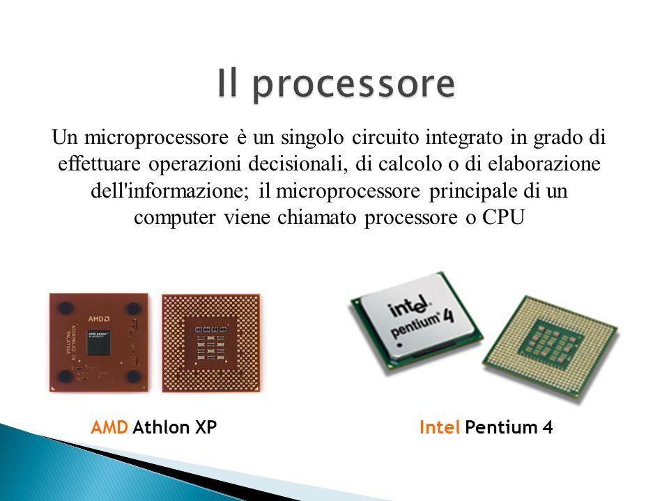 Un microprocessore è un singolo circuito integrato in grado di effettuare operazioni decisionali, di calcolo o di elaborazione dell'informazione; il m