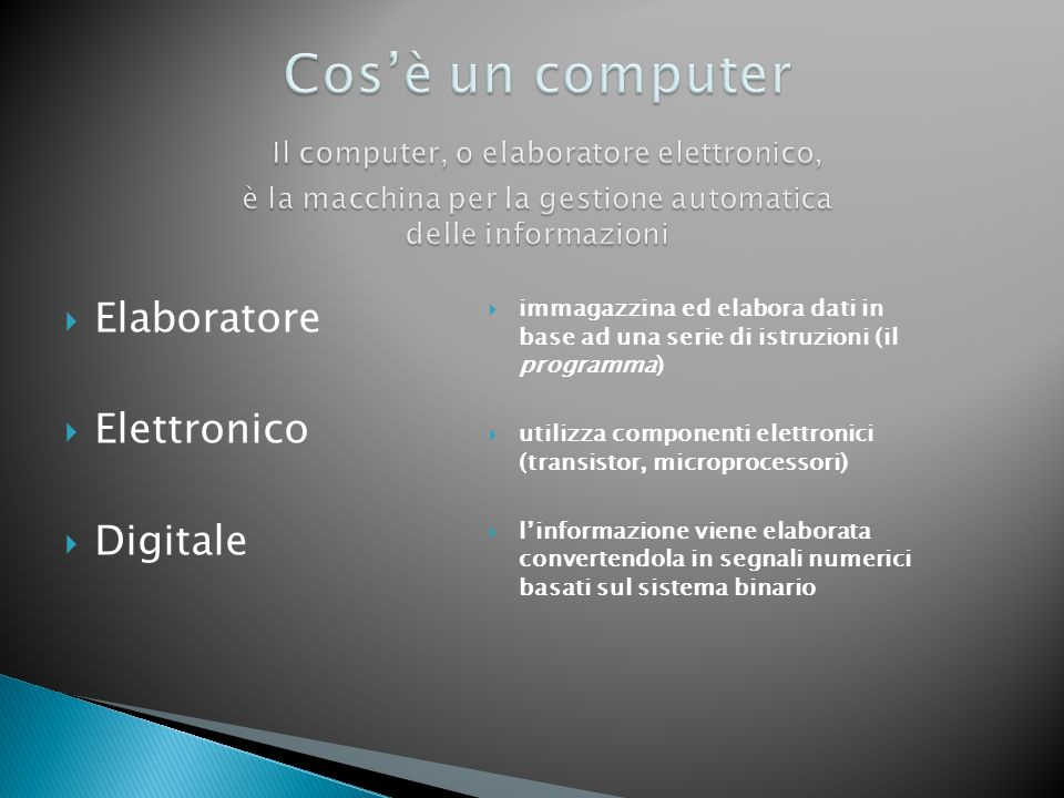 mainframe network computer terminali supercomputer personal computer Notebook e palmari